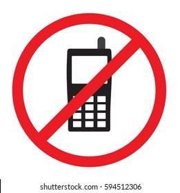 no phone vector icon