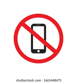 No phone vector sign on a white background.