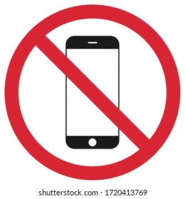 No phone (without phone) on white background. Vector illustration.