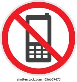 No phones sign in vector depicting banned activities