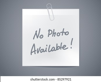 no photo available - paper sticker - horizontal image