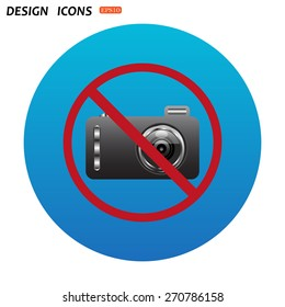 no photo camera. icon. vector design