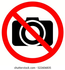 No Photo / No Photography sign vector. Camera.