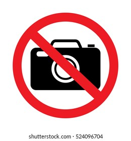 No photo sign on white background.