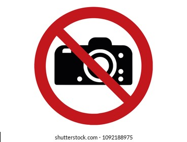 no photo sign - photographing prohibited sign - no camera