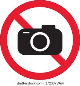 No photo sign, prohibition sign, ban