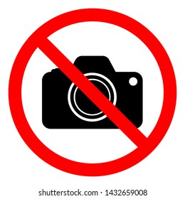 No Photograph Symbol Sign, Vector Illustration, Isolate On White Background Label .EPS10