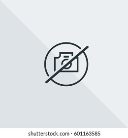 No Pictures Allowed Vector Icon, Photo restriction symbol. Simple, modern flat vector illustration for mobile app, website or desktop app