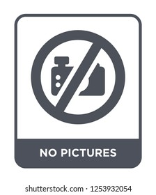 no pictures icon vector on white background, no pictures trendy filled icons from Hotel and restaurant collection, no pictures simple element illustration