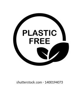 No Plastic Icon. Warning, Caution or Attention Illustration As A Simple Vector, Trendy Sign & Symbol for Design and Websites, Presentation or Application.