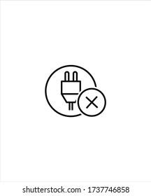 no plug icon,vector best line icon.