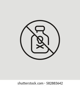 No Poison Restricted Outline Vector Icon