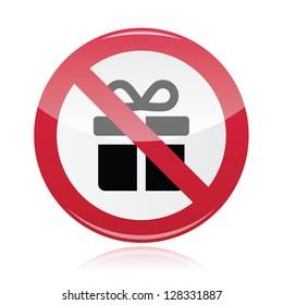 No presents red warning signs - vector