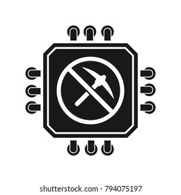 No Processor Minig sign illustration
