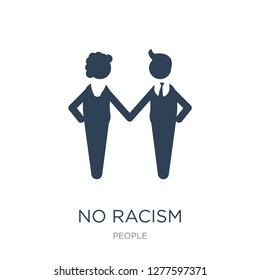 no racism icon vector on white background, no racism trendy filled icons from People collection, no racism vector illustration