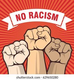 Kein rassistisches Poster, erste Hand