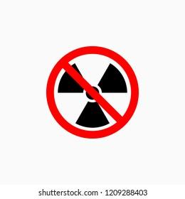 no radiation icon, no nuclear vector