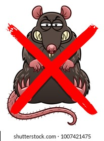 No rats cartoon sign