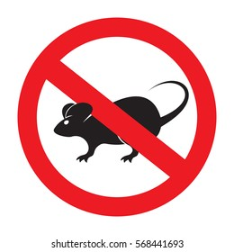 No rats vector icon
