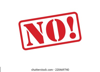NO! Red Rubber Stamp vector over a white background.