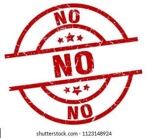 no round red grunge stamp