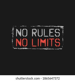 no rules no limits, typography graphic design, for t-shirt prints, vector illustration