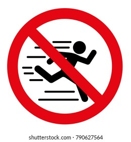 No running vector sign