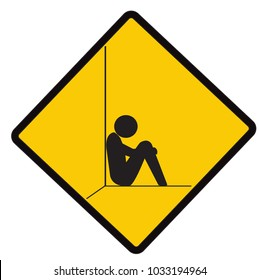 no sad, no cry, caution road symbol sign and traffic symbol design concept, vector illustration.