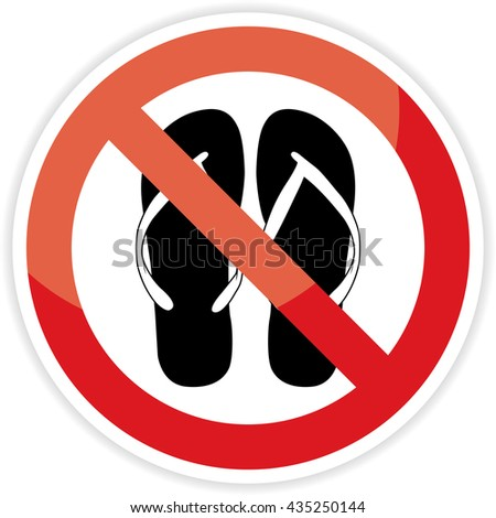 db85f71bcbdaea No Sandals No Shoes Sign On Stock Vector (Royalty Free) 435250144 ...