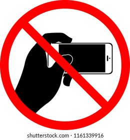 No Selfie, Do not record video, Do not take photos