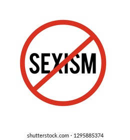 No sexism icon vector. No sexism symbol. Linear style sign for mobile concept and web design. No sexism symbol illustration. Pixel vector graphics - Vector.