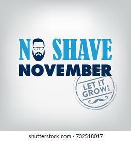 No Shave November Typographic Vector Design