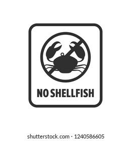 No shellfish symbol