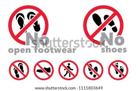 f943efde520a87 No shoes No open footwear vector icon hiking alert walks Walking Stampen  speedy footmark footstep feet