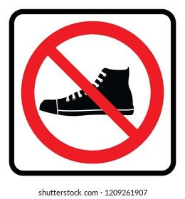 No Shoes Sign Images Stock Photos Amp Vectors Shutterstock
