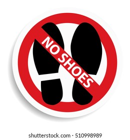 58e5cc96c37440 No shoes sign on white background.vector illustration