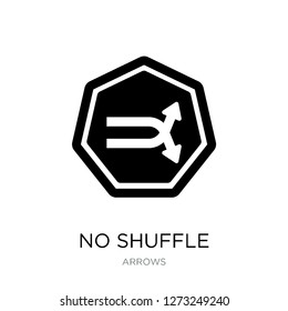 no shuffle icon vector on white background, no shuffle trendy filled icons from Arrows collection, no shuffle simple element illustration