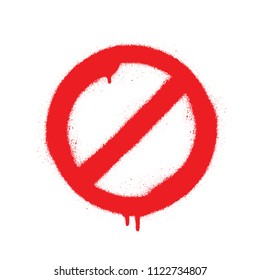 No Sign Empty Red Crossed Out Circle, Vector Illustration, Isolate On White Background Icon. EPS10