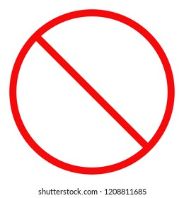 NO SIGN. Forbidden symbol. Vector.