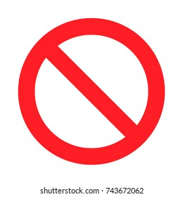 No Sign. Isolated on white background. Restriction sign prohibited not allowed warning. Stop or ban danger red sign. Crossed line information to precent prohibit road