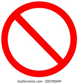 No Sign. Vector on white background