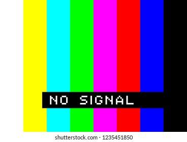No signal - colorful stripes error television screen