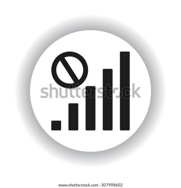 no signal, poor signal strength, signal strength indicator. icon. vector design
