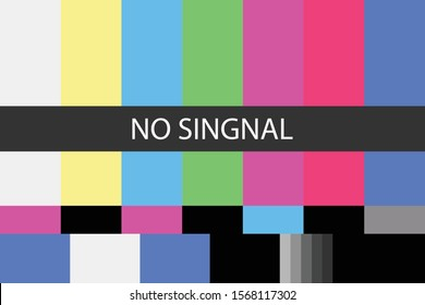 No signal TV test pattern background, pastel color