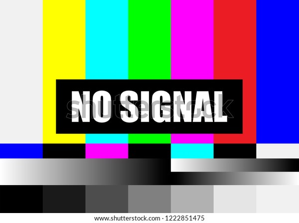 No Signal Tv Test Pattern Vector Stock Vector Royalty Free 1222851475