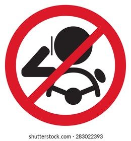 No Smartphone when drive Sign vector illustration