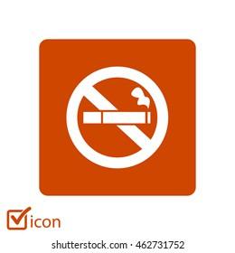 No Smoking Sign Icon Cigarette Symbol Stock Illustration 210459994