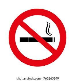 No smoke illustration, No smoking sign isolated on white,