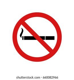 No smoke zone sign