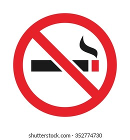 no smoking arabic logo vector.